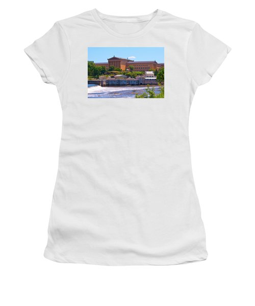 Art Museum And Fairmount Waterworks - Hdr Women's T-Shirt (Athletic Fit)