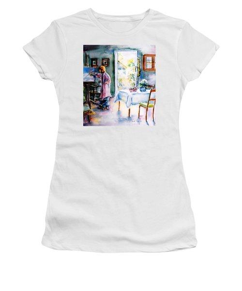 Artist At Work In Summer  Women's T-Shirt (Junior Cut) by Trudi Doyle