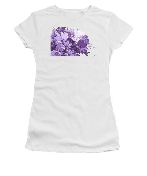 Women's T-Shirt (Junior Cut) featuring the photograph Artsy Purple Cosmos by Sandra Foster