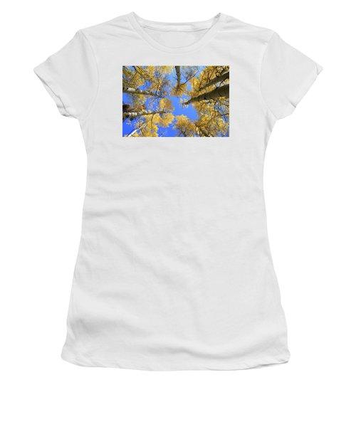 Aspens Skyward Women's T-Shirt (Athletic Fit)
