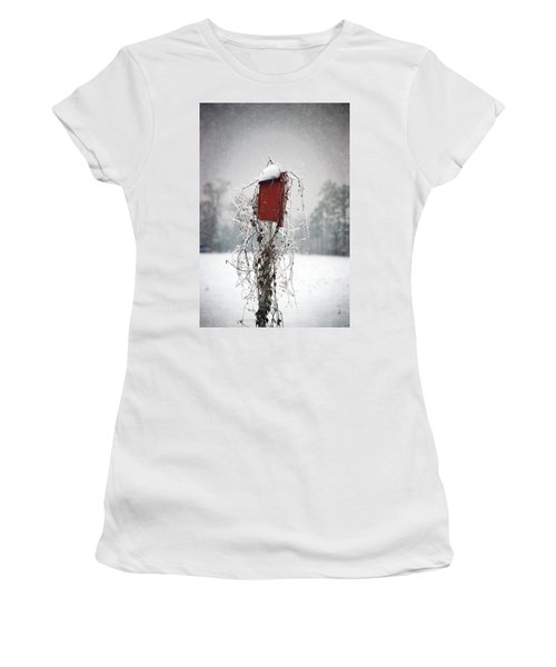 At Home In The Snow Women's T-Shirt (Athletic Fit)