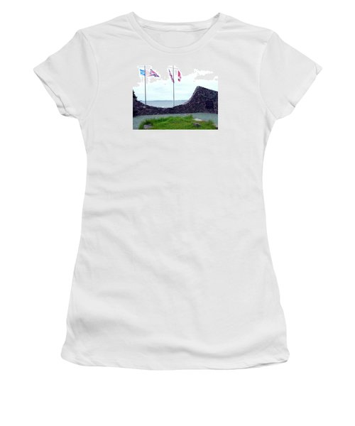 Women's T-Shirt (Junior Cut) featuring the photograph Atlantic Charter Historic Site by Barbara Griffin