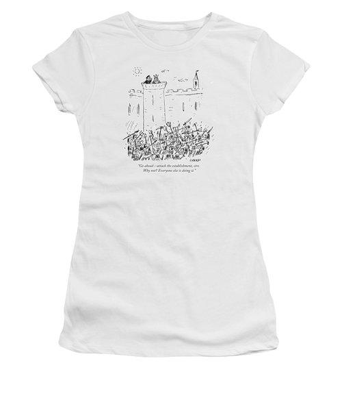 Attack The Establishment Sire Women's T-Shirt