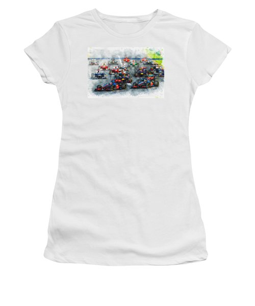 Australian Grand Prix F1 2012 Women's T-Shirt (Athletic Fit)