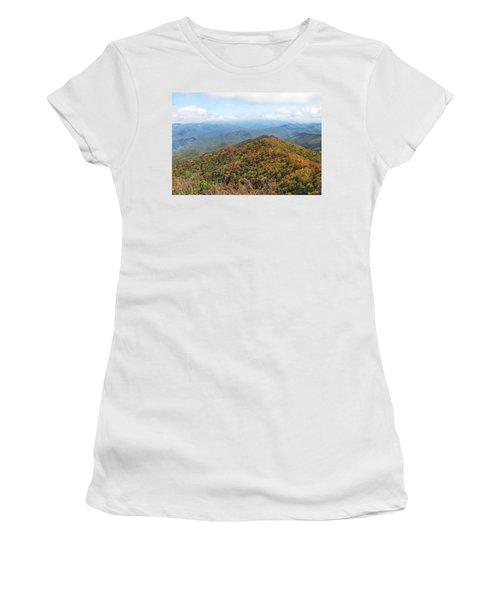 Autumn Great Smoky Mountains Women's T-Shirt (Junior Cut) by Melinda Fawver