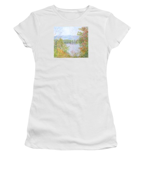 Autumn By The Lake In New Hampshire Women's T-Shirt (Athletic Fit)