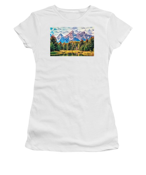 Autumn In The Tetons Women's T-Shirt (Athletic Fit)
