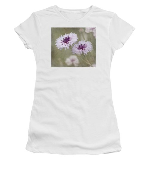 Bachelor Buttons - Flowers Women's T-Shirt (Athletic Fit)