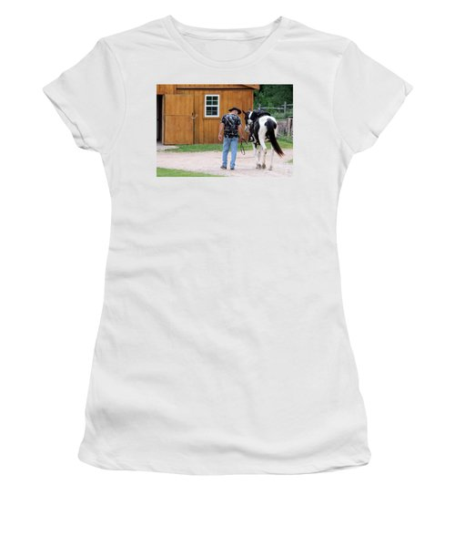 Back To The Barn Women's T-Shirt (Athletic Fit)