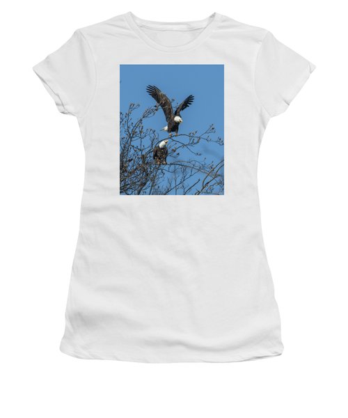 Bald Eagles Screaming Drb169 Women's T-Shirt (Athletic Fit)