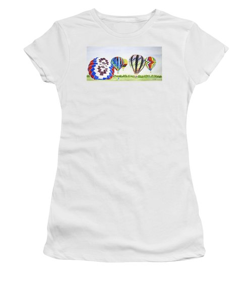 Women's T-Shirt (Junior Cut) featuring the painting Balloons by Carol Flagg