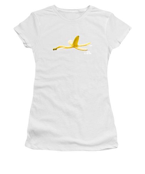 Women's T-Shirt (Junior Cut) featuring the photograph Banana Skin by Lee Avison