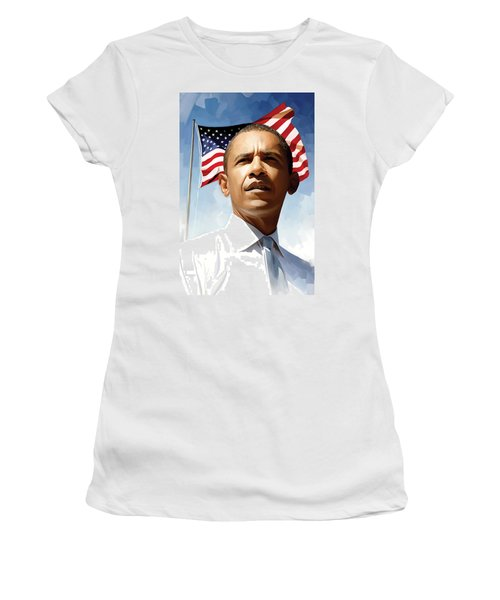 Barack Obama Artwork 1 Women's T-Shirt (Athletic Fit)
