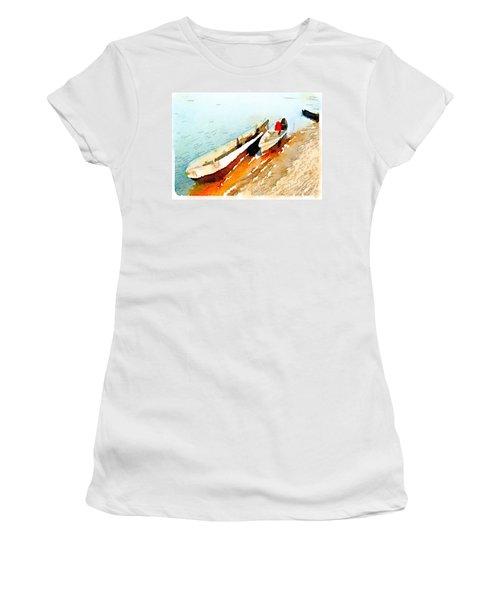 Barques Sur Le Chari Women's T-Shirt