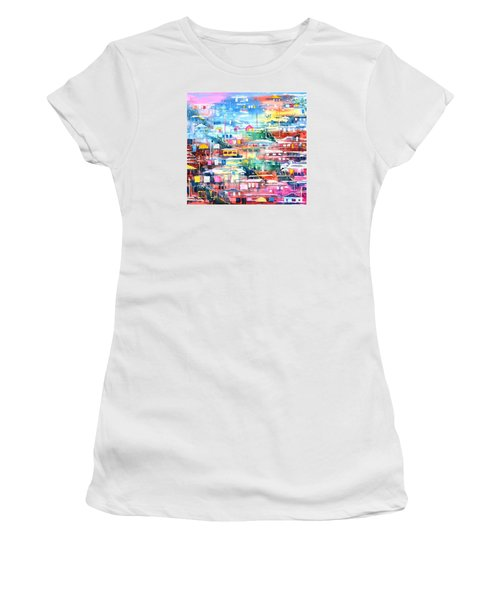 Barrio El Cerro De Yauco Women's T-Shirt (Junior Cut) by Zaira Dzhaubaeva