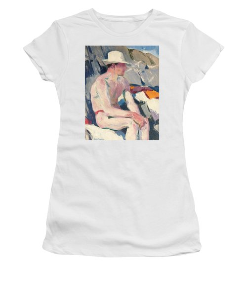 Bather In A White Hat Women's T-Shirt