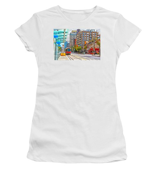 Bathurst Street Car Coming North To Queen Street Women's T-Shirt (Junior Cut) by Nina Silver
