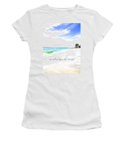 Be Still #3 Women's T-Shirt (Athletic Fit)