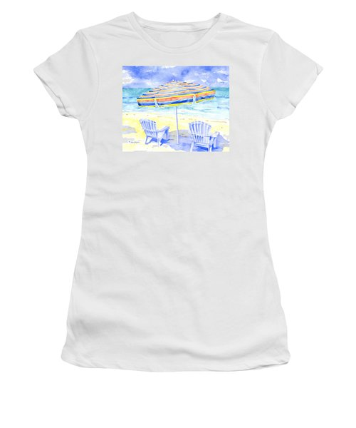 Beach Chairs Women's T-Shirt (Athletic Fit)