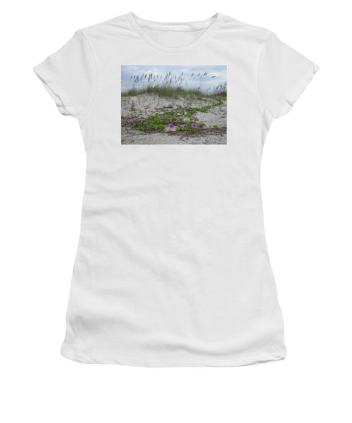 Beach Flowers Women's T-Shirt (Athletic Fit)