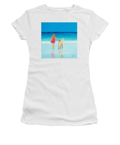 Beach Painting 'sunkissed Hair'  Women's T-Shirt (Athletic Fit)