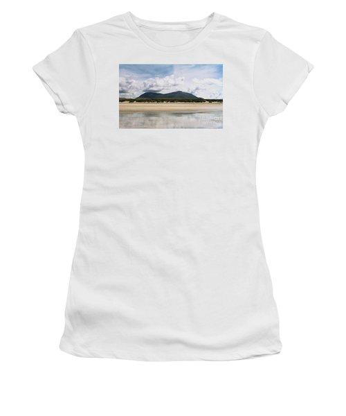 Beach Sky And Mountains Women's T-Shirt (Junior Cut) by Rebecca Harman