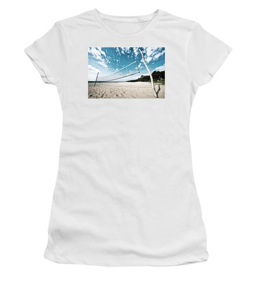 Beach Volleyball Net Women's T-Shirt