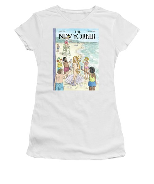 Venus On The Beach Women's T-Shirt