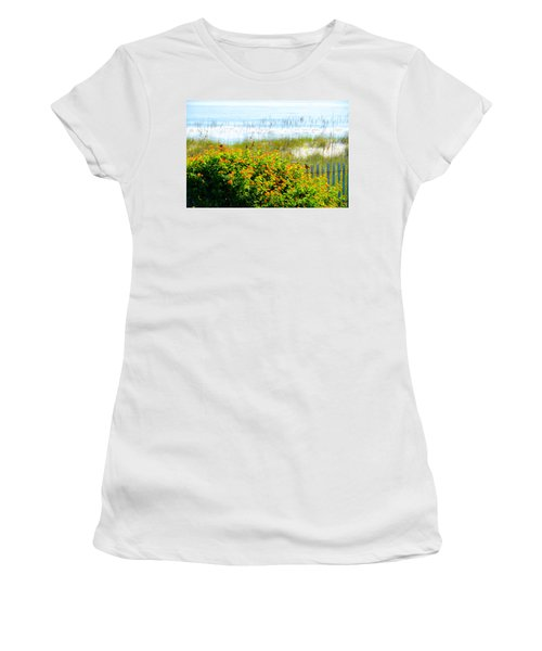 Beachy Butterflies  Women's T-Shirt (Athletic Fit)
