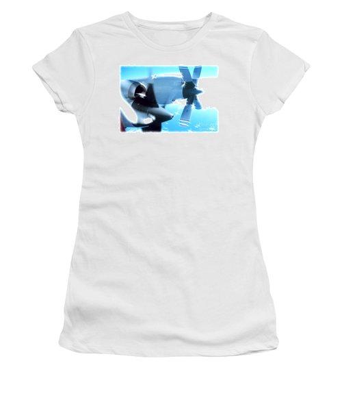 Women's T-Shirt (Junior Cut) featuring the photograph Beautiful Fixed Wing Aircraft by R Muirhead Art