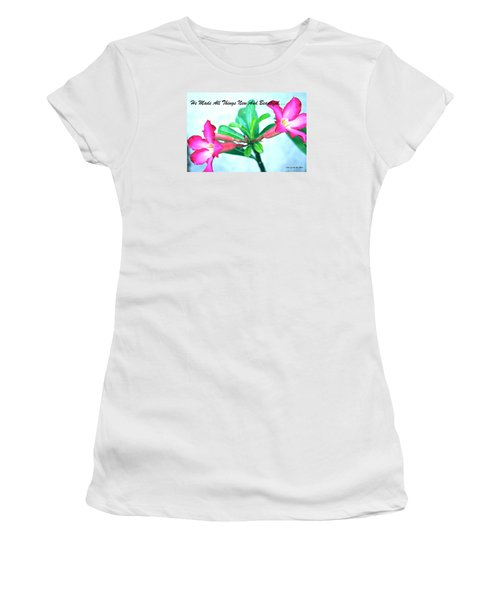 Beautiful Flower Women's T-Shirt (Junior Cut) by Lorna Maza