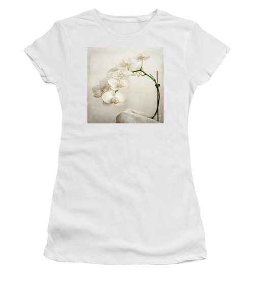 Beautiful White Orchid II Women's T-Shirt (Athletic Fit)