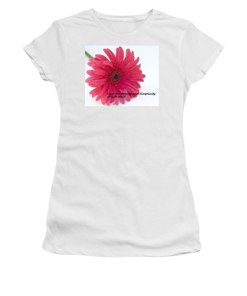 Beauty And Simplicity Women's T-Shirt (Junior Cut) by Patrice Zinck