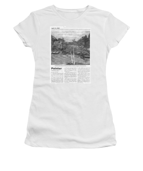 Beaver Pond - Article - Mary Krupa Women's T-Shirt (Athletic Fit)
