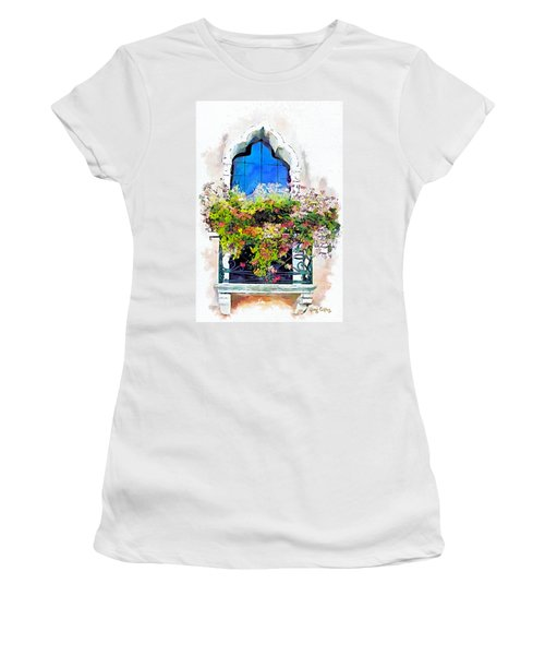 Women's T-Shirt (Junior Cut) featuring the painting Bei Fiori by Greg Collins