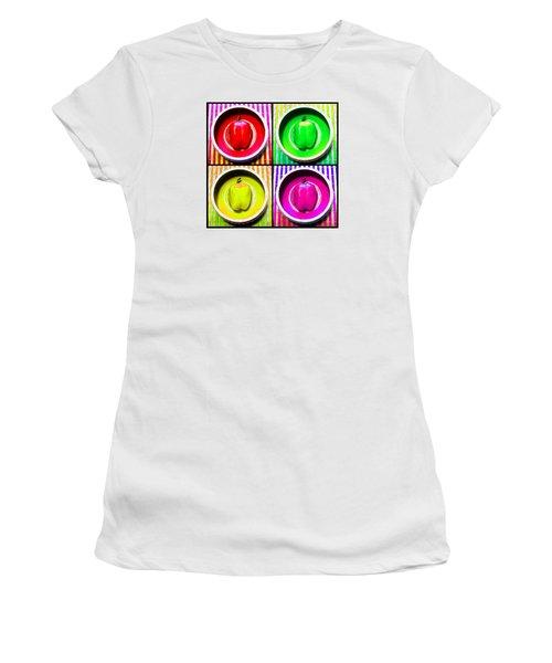 Women's T-Shirt (Junior Cut) featuring the photograph Bell Pepper Rainbow by Shawna Rowe