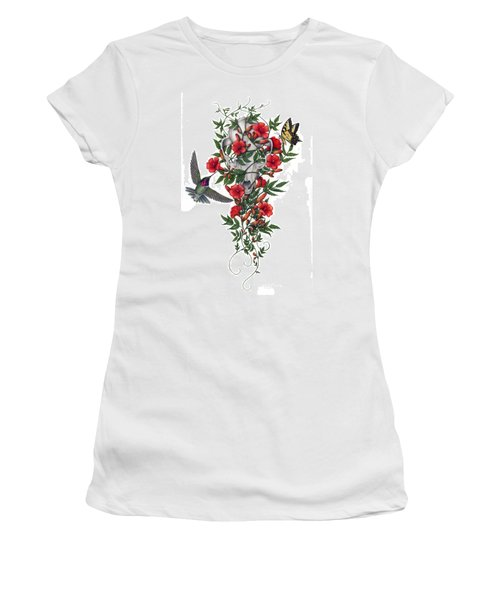 Women's T-Shirt (Junior Cut) featuring the painting Beneath Summer's Promise by Pat Erickson