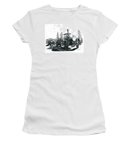 Best Steam Traction Engine Women's T-Shirt (Athletic Fit)