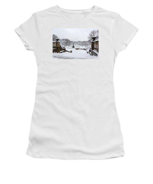 Bethesda Fountain In Central Park Women's T-Shirt