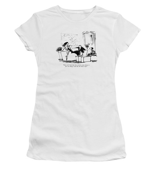Betsy And I Feel That This Election Comes Women's T-Shirt (Athletic Fit)