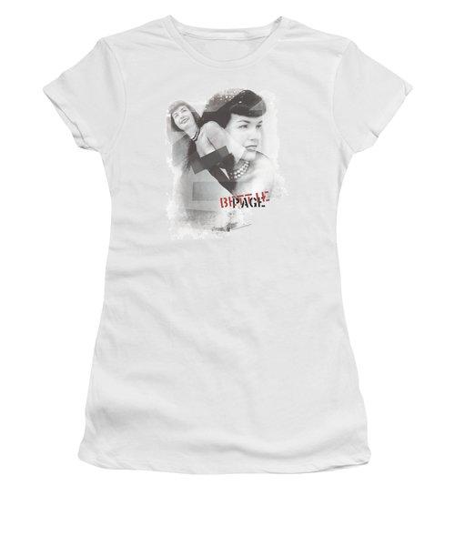 Bettie Page - Transparent Bands Women's T-Shirt