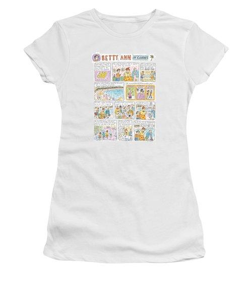 'betty Ann In Cannes' Women's T-Shirt