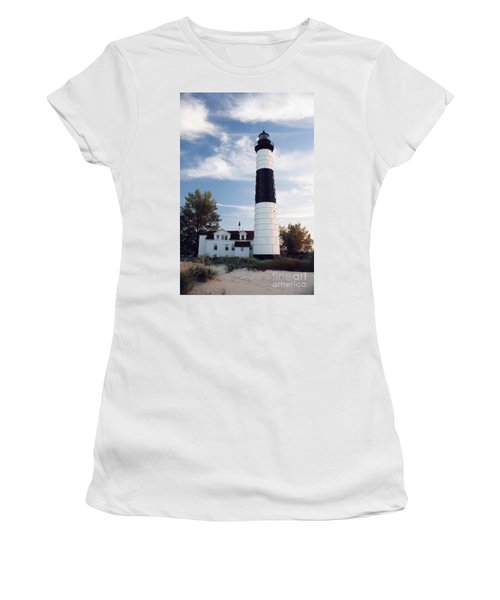 Big Sable Lighthouse Women's T-Shirt (Athletic Fit)
