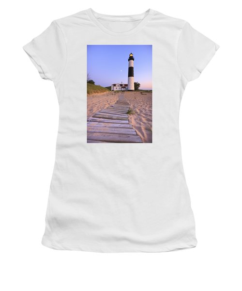 Big Sable Point Lighthouse Women's T-Shirt (Athletic Fit)
