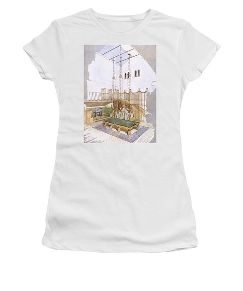 Billiards Room, Designed By George Women's T-Shirt