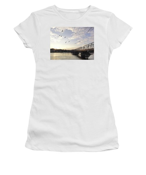 Birds And Bridges Women's T-Shirt (Athletic Fit)