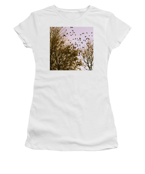 Birds Of A Feather Flock Together Women's T-Shirt (Athletic Fit)