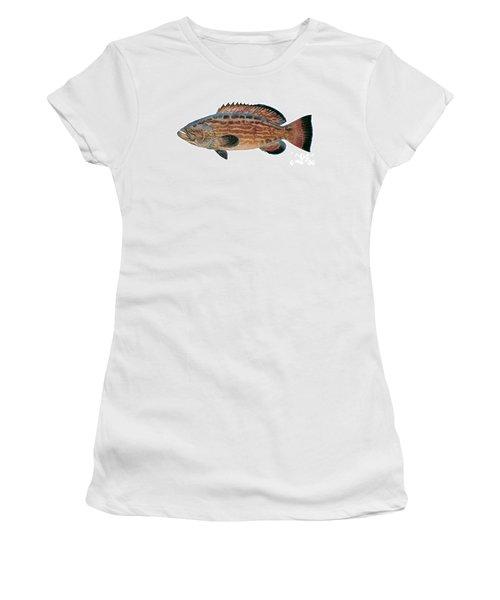 Black Grouper Women's T-Shirt (Athletic Fit)