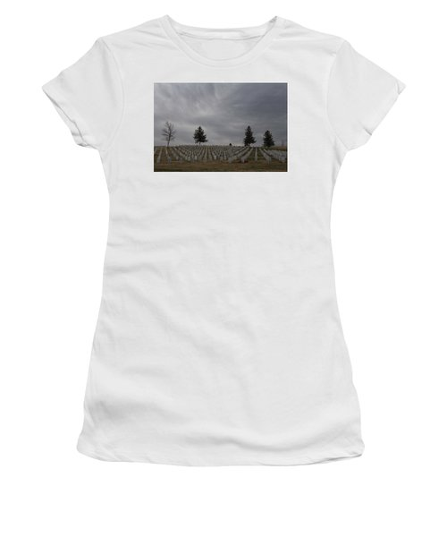 Black Hills Cemetery Women's T-Shirt (Athletic Fit)