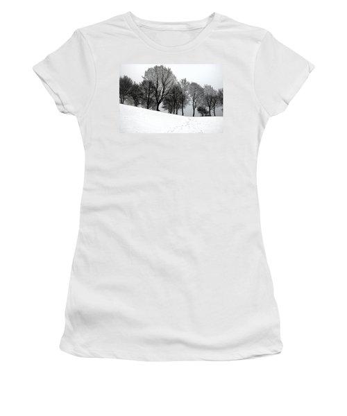 Black Trees Women's T-Shirt (Junior Cut) by Randi Grace Nilsberg